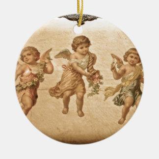 Three Angels (Antique) Ceramic Ornament