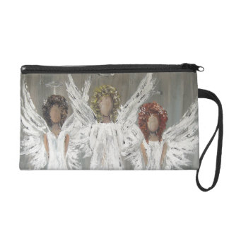 Three Angels  Travel Accessory Bag Wristlet