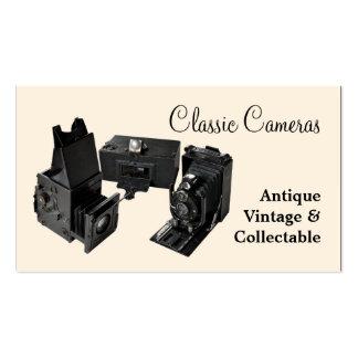 Three antique cameras business card