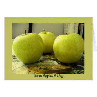 Three Apples A Day Greeting Card