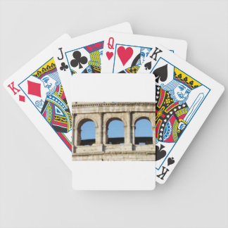 three arch wall bicycle playing cards