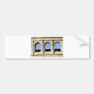 three arch wall bumper sticker