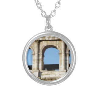 three arch wall silver plated necklace