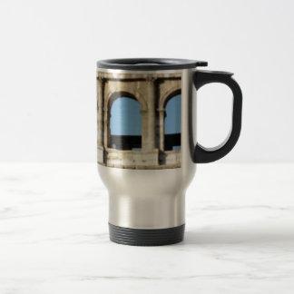 three arch wall travel mug