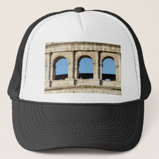 three arch wall trucker hat