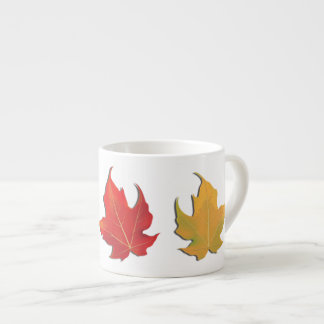 Three Autumn Maple Leaves Espresso Cup