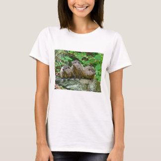 Three Baby Groundhogs T-Shirt