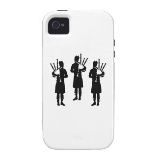 Three bagpipe player iPhone 4 case