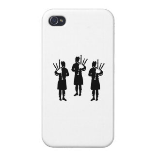 Three bagpipe player iPhone 4/4S cover