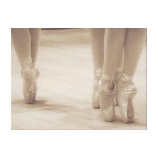Three Ballerinas en Pointe Canvas Print