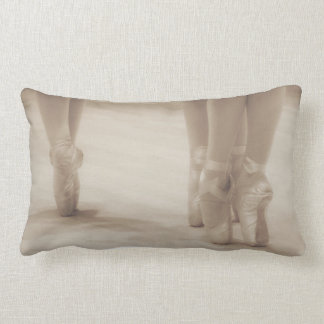 Three Ballerinas en Pointe Lumbar Pillow
