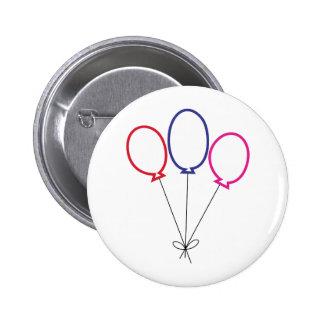 Three Balloons 2 Inch Round Button