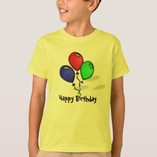 Three Balloons Happy Birthday T-Shirt