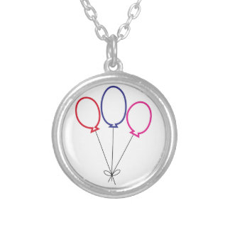 Three Balloons Silver Plated Necklace