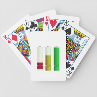 Three batteries bicycle playing cards