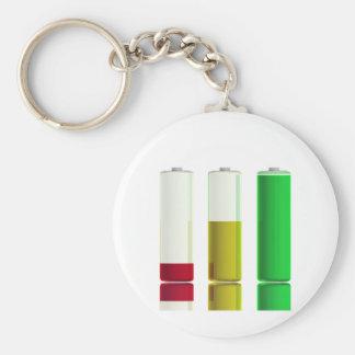 Three batteries keychain