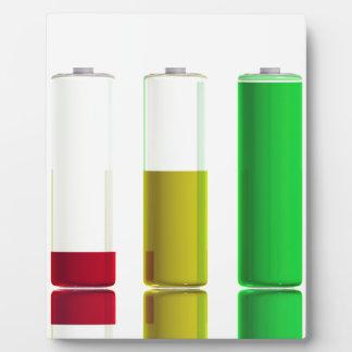 Three batteries plaque