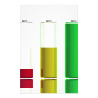 Three batteries stationery