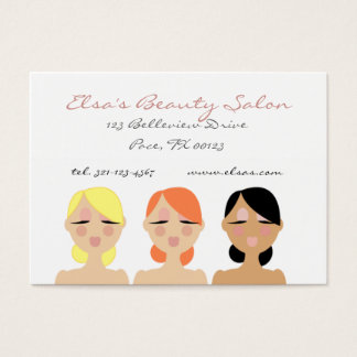 three beauties BEAUTY SALON business card