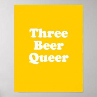 Three Beer Queer Print