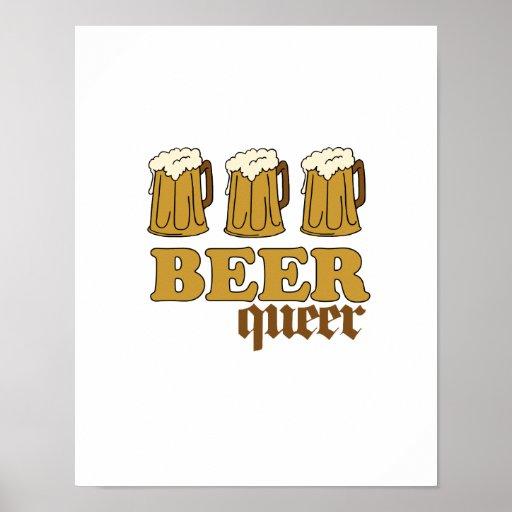 Three Beer Queer Posters