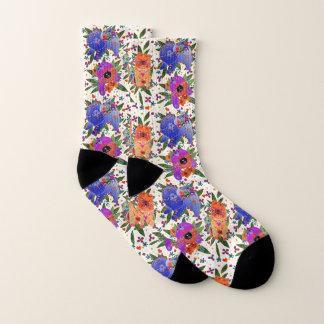 THREE BINDI CHOWS - white  background socks 1