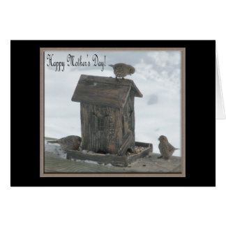 Three  Birds/ Happy Mother's Day Note Card