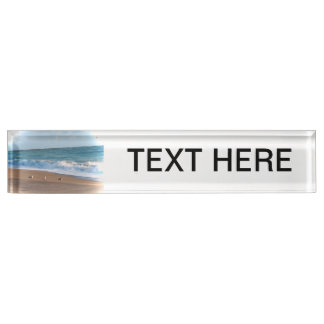 three birds on shore photo florida beach name plate