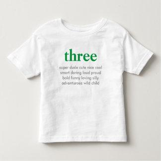 three birthday shirt