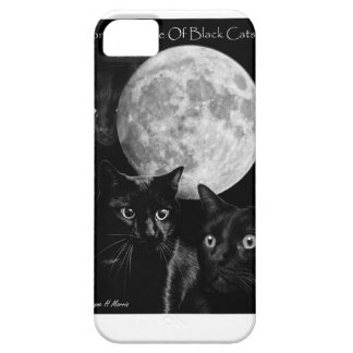 Three black cats and the moon case for the iPhone 5