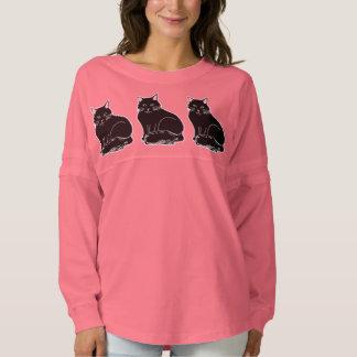 Three Black Cats Women's Spirit Jersey Shirt