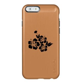 Three Black Hibiscus Tropical Flowers Incipio Feather® Shine iPhone 6 Case