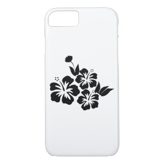 Three Black Hibiscus Tropical Flowers iPhone 8/7 Case