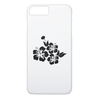 Three Black Hibiscus Tropical Flowers iPhone 8 Plus/7 Plus Case