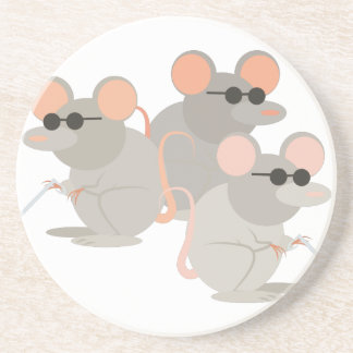 Three Blind Mice Coaster