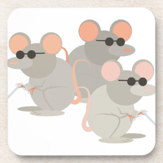 Three Blind Mice Coasters