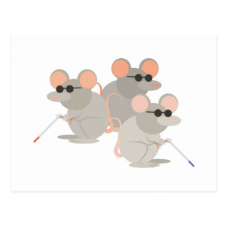 Three Blind Mice Postcard