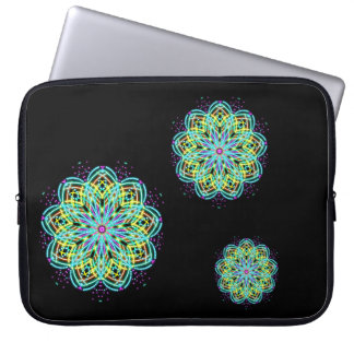 Three blue starbursts laptop sleeve