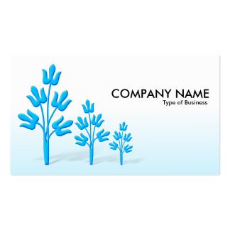 Three Blue Trees - Day and Night Business Cards