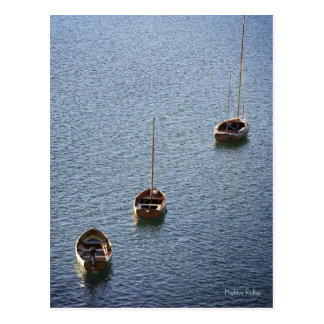 Three Boats on the Water, Bantham postcard
