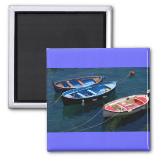 Three Boats Square Magnet