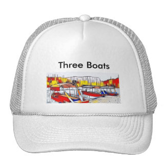 Three Boats Trucker Hat