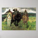 Three Bogatyrs (1898) by Viktor Vasnetsov Print