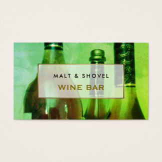Three Bottle Display, Retro Wine Bar Business Card