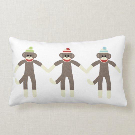 Three Boy Sock Monkeys Pillow
