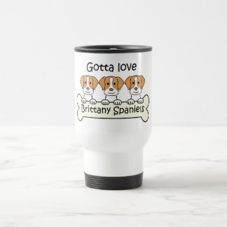 Three Brittany Spaniels Stainless Steel Travel Mug