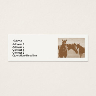 """Three Brown Horses"" Customized Profile card"