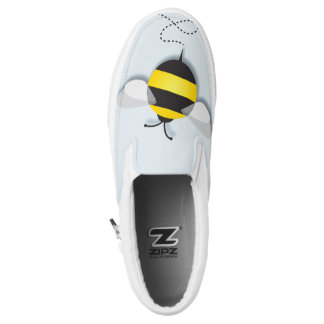 Three Bumble Bees Slip-On Sneakers