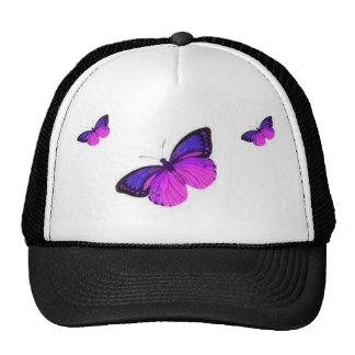 THREE BUTTERFLYS TRUCKER HAT