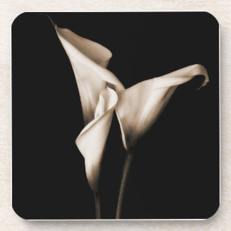 Three Calla Lilies Beverage Coaster